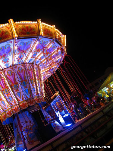 SPIN: One of the rides at the Euro Fun Fair that stopped in town. (© Georgette Tan, 2005)